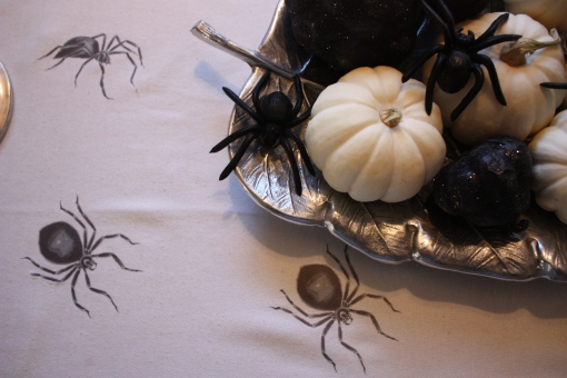 Spider Covered Table Cloth