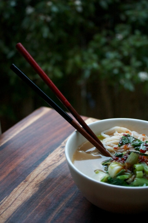 The Noodle Bowl; Homemade Ramen {Gluten Free}