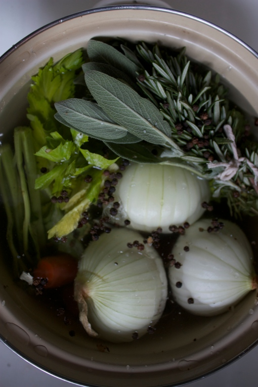 Make your own chicken stock, to add depth and flavor to your favorite recipes