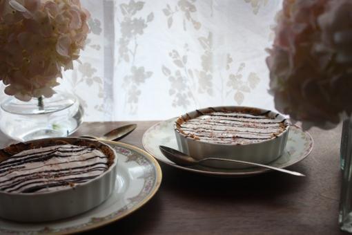 Tart Cherry and salted chocolate tart