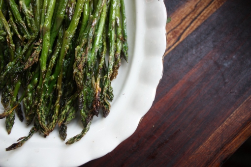 broiled asparagus with sea salt and olive oil