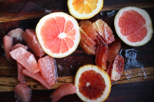 pink grapefruit and blood orange