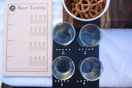 Perfect place setting - Beer tasting party