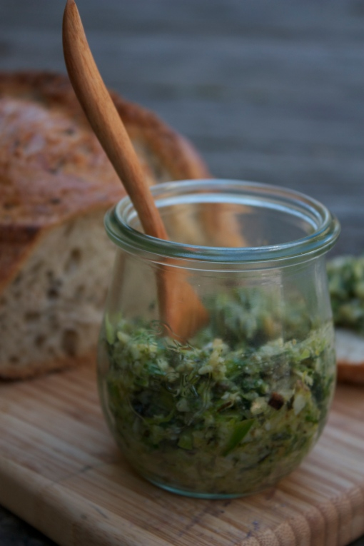 Roasted Green Garlic Pesto