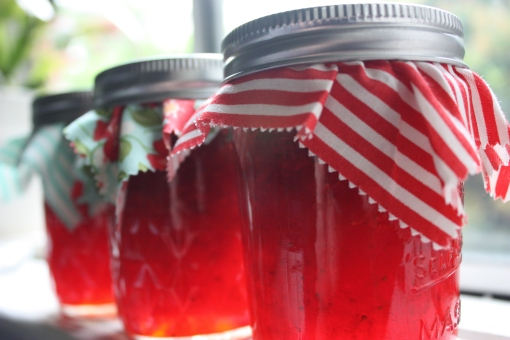 Summer in a Jar - Strawberry Freezer Jam